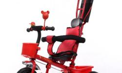 Brand new. Red. Frame made from metal. Have pneumatic