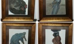 4 pieces contemporary painting by Purwadi Bali - A
