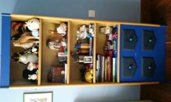 4 Shelves Book Case with 2 Large Drawers 72 x 31 x