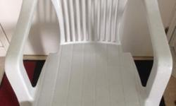 4 X White Heavy Duty Chairs in Excellent Condition.
