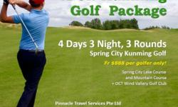 Play like a Champion 4D3N Kunming Golf Package 4 Days 3