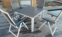 Beautiful outdoor furniture set consisting of table