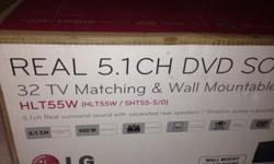 51 LG dvd sound bar. Sound bar wireless to wired bass