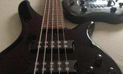 Used 5 strings yamaha rbx 375 bass guitar and used line