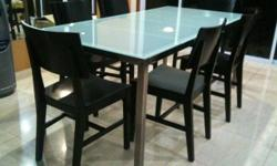 Full 6-person 180cm x 85cm x 74cm dining set for