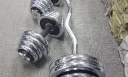 60kg dumbbell and barbell sets on Offer.