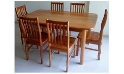 Wanting to clear one set of 6+1 solid wood dining table