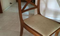 Wooden chairs with upholstery