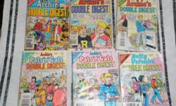All 6 double digest comics for $7. Not in very good