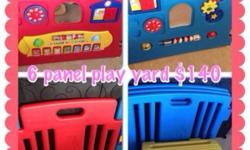 Preloved 6-panel play yard with 1 melody and 1 activity