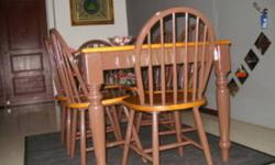 6 seater wooden dinning set (80%) new (CLEARANCE) Very