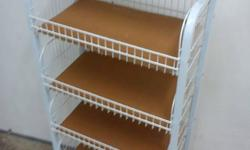 6 TIER METAL RACKS WITH CASTERS SUITABLE FOR DISPLAY,