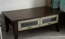 Vintage or retro coffee table with 2 drawers of the