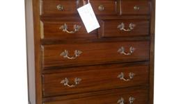 Brand new mahogany solid wood 8 drawer chest, Inside