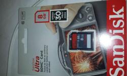 new, unopened, factory sealed, 8GB SanDisk Ultra SDHC