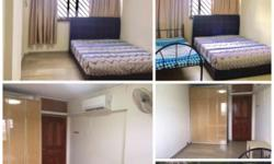 -Air-conditioned room with built in cabinets -Couple or