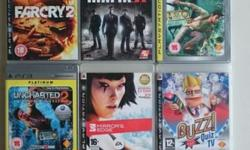 9 PS3 games + PS3 Quiz Buzzers ** No scratches on disc