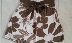 A & F Brown Flowery Cotton Tube Size XS