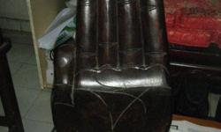A pair of Chinese Wooden Antique Buddha hand .52cm in