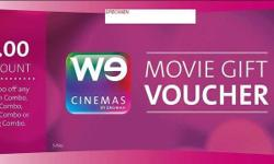 A pair of WECinemas movie vouchers (opening in 1Q