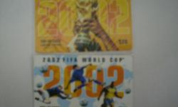 A set of 2 World Cup 2002 phone card. Condition very