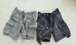 2 Abercrombie & Fitch Shorts Size 28 blue and grey