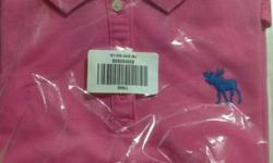 Brand new with tag Abercrombie lady pink t shirt size s