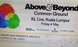 2x Above & Beyond VIP tickets!! Event: KL Live DATE: 4