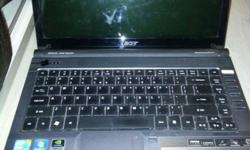 Used ACER ASPIRE 4740G for sale. 3 years old c/w