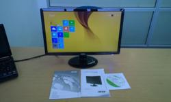 "20"" Acer LED monitor features a super-slim,"