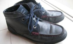 A pair of used Active Camel leather shoe (greyish blue
