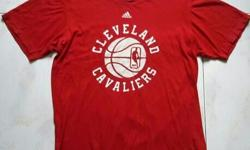 Adidas NBA Cleveland Cavaliers red t shirt. See 2nd