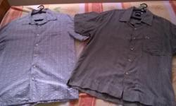 2pcs of adult button shirts to let go together at $25,