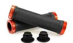 Aerozine XG1 Lock On Handlebar Grips - Orange S$19 (For
