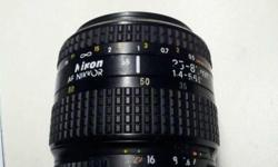 Lens in working condition. Some dust inside the lens,