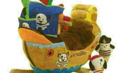 Ahoy Doggie Pirate Ship Rocker FROM US . Retail