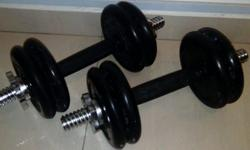 Very good condition Dumbell bar and bell rings. almost