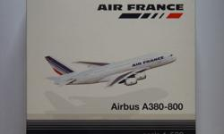 Air France Airbus A380-800 aircraft model. Scale 1:500,