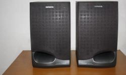 Seldom used AIWA Japan Bookshelf High Fidelity Speakers
