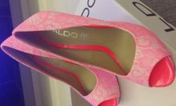 Aldo Neon Pink Lace Heels Brand New Size 36