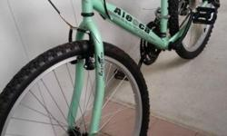 Aleoca brand adult Bi- cycle. Attractive light green