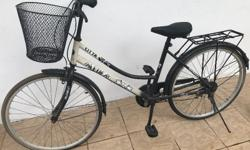 White Aleoca Woman Bike with Basket. Tires need to be