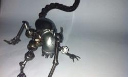 Brand New! Alien Metal Robot made from recycle metal