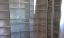 White IKEA Billy book cases: $95 for each double and