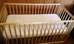 Baby cot and Mattress - almost new , gently used for 6