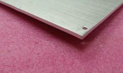 Aluminium panel 428x129x2.5mm thick. Used,,in good