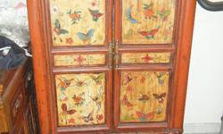 Antique butterfly chinese cabinet design.height at