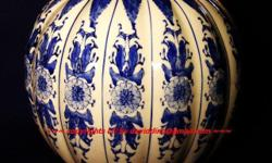 ~~~~ANTiQue ChiNese PorCeLaiN PumPKin VaSe $488 ~~~~