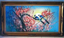 ~~~ AnTiQue Oil PainTing � LoVeR BirDs � $288 ~~~ One