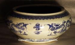 ~~~ AnTiQue PorCeLain Dragon BowL / VaSe $488 ~~~ One